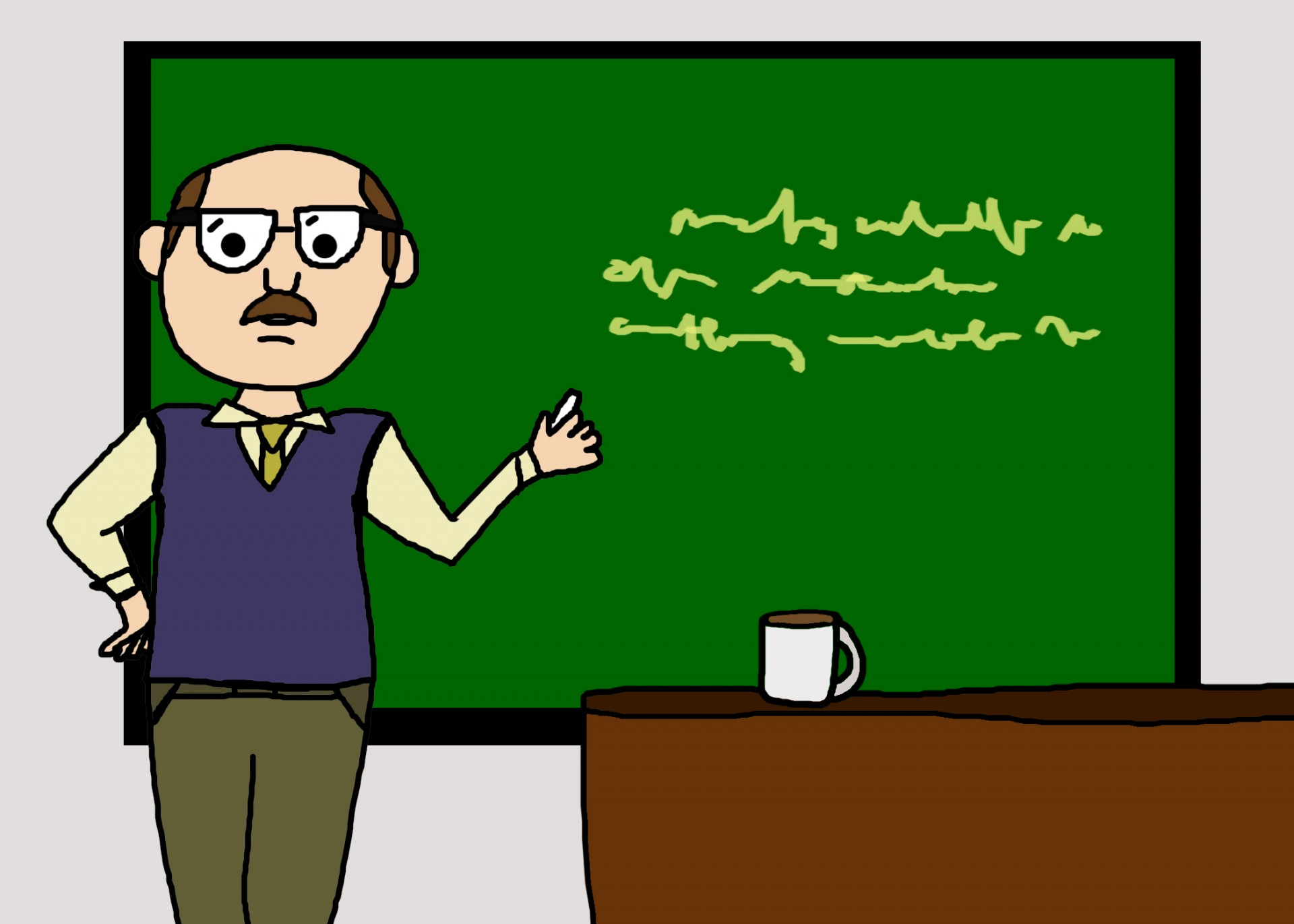 male teacher cartoon